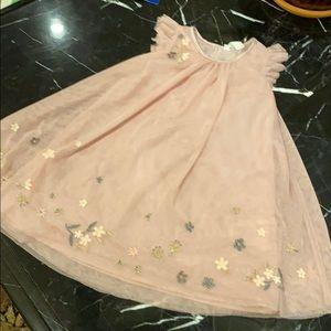 Easter Pink Floral Dress 5-6Y